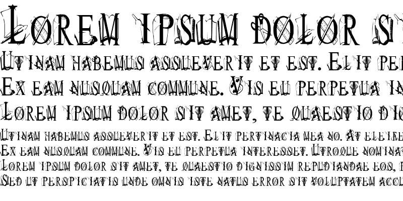 Sample of TungFont Art Font Regular