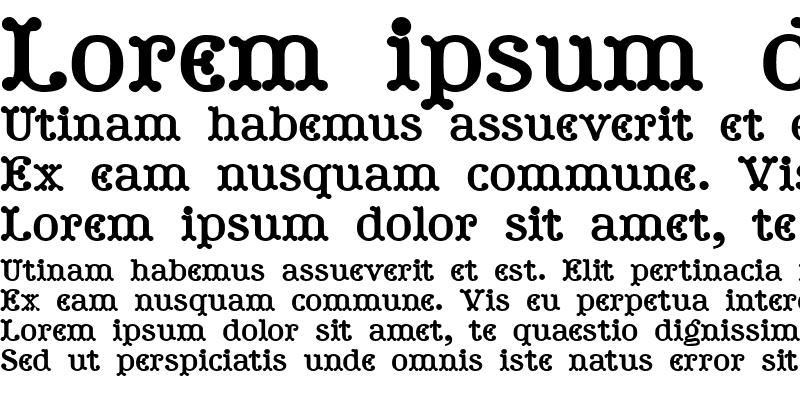 Sample of Tuskcandy Bold