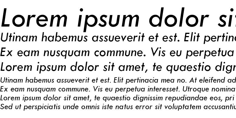 Sample of Tw Cen MT Italic
