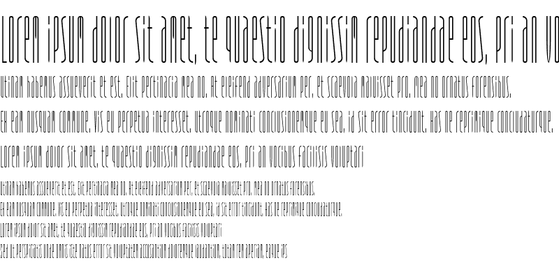 Sample of Typeface FourOne