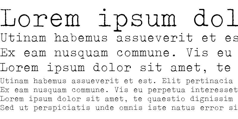 Sample of Typewriter ExtraLight
