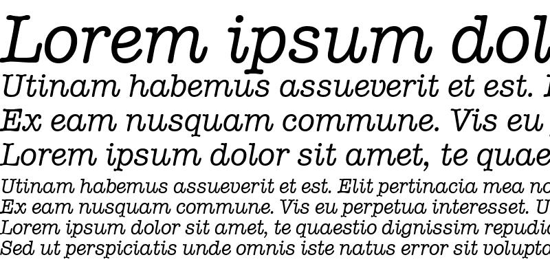 Sample of Typewriter Italic