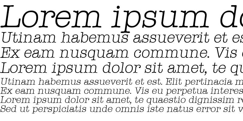 Sample of Typewriter-LightIta
