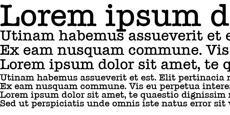 Sample of Typewriter-Medium