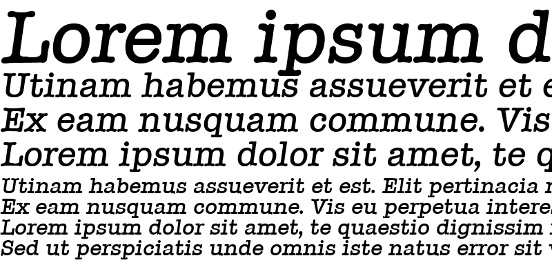 Sample of Typewriter-MediumIta