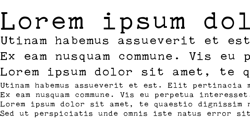Sample of Typewriter PG Regular