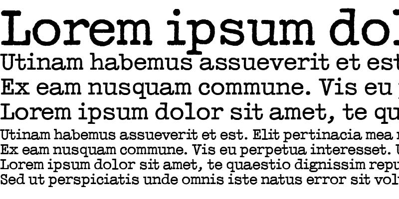 Sample of Typewriter
