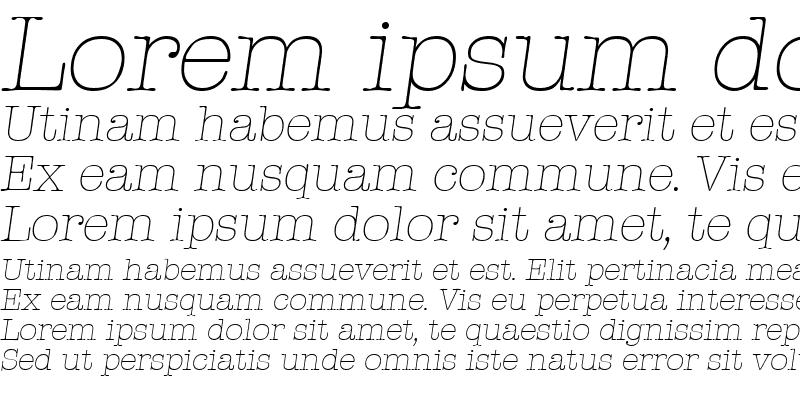 Sample of Typewriter-XlightIta Regular