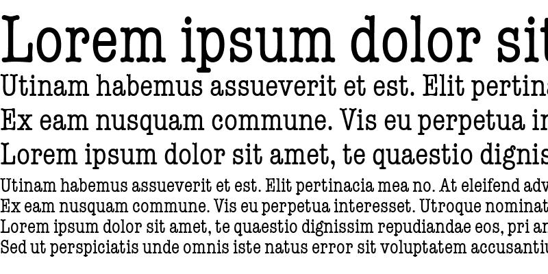 Sample of TypewriterCond Regular