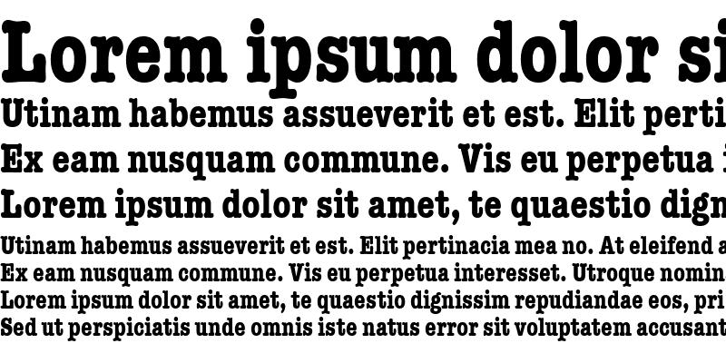 Sample of TypewriterCondensed Bold