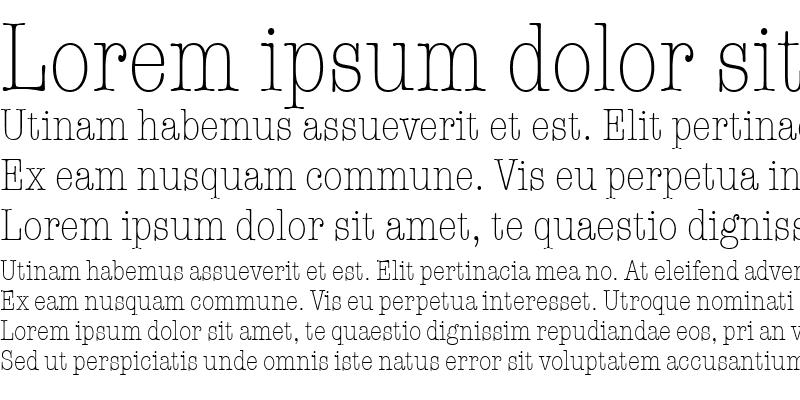 Sample of TypewriterCondL Regular