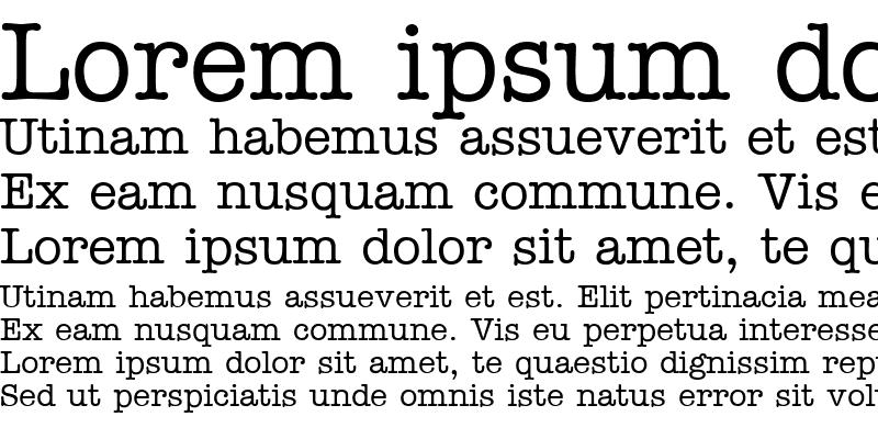 Sample of TypeWriterCyr Regular