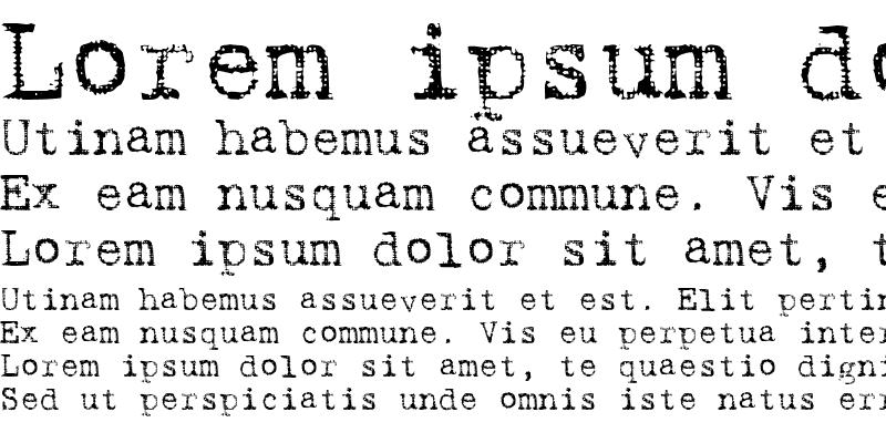 Sample of TypewriterRough Regular