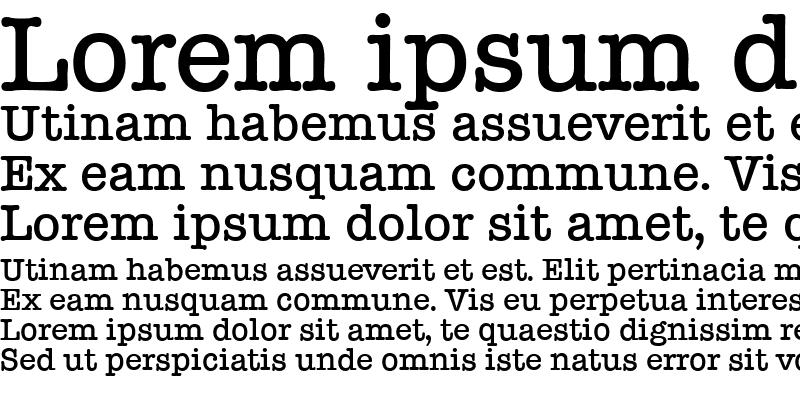 Sample of TypewriterSerial Medium