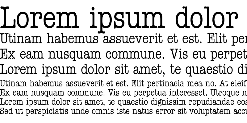 Sample of Typist Condensed