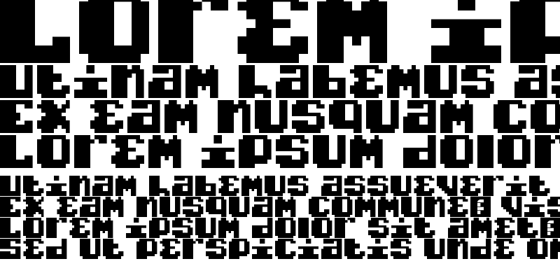 Sample of Typo pixel