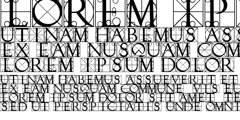 Sample of Typographer Caps
