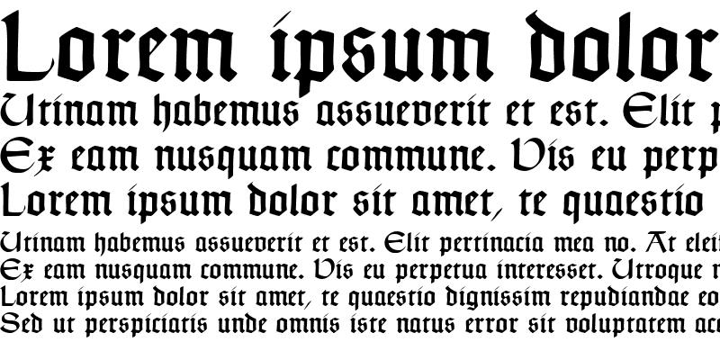 Sample of Typographer Uncialgotisch Regular