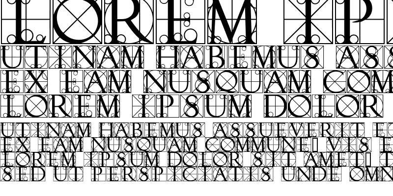 Sample of TypographerCaps