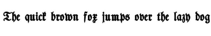 Preview of TypographerFraktur Contour Regular