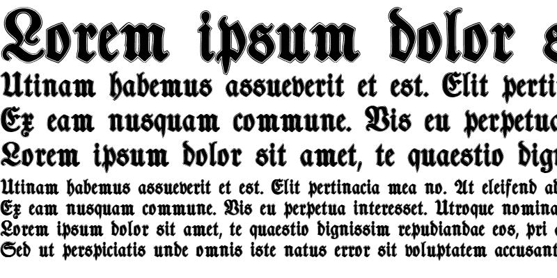 Sample of TypographerFraktur Contour