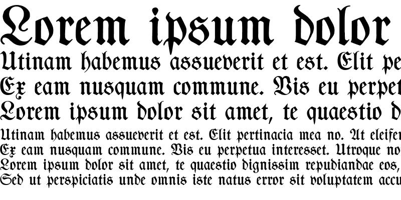 Sample of TypographerFraktur Medium