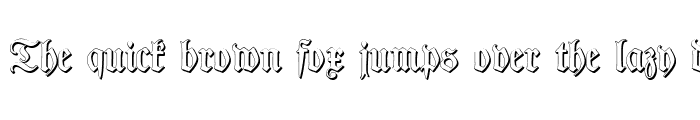 Preview of TypographerFraktur Shadow Regular