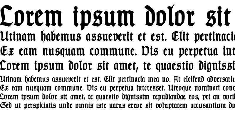 Sample of TypographerGotisch Schmal