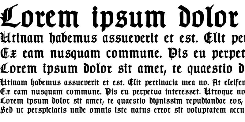 Sample of TypographerGotisch Schmuck Bold
