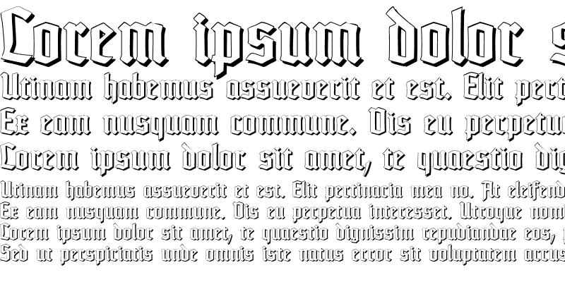Sample of TypographerTextur Schatten Regular
