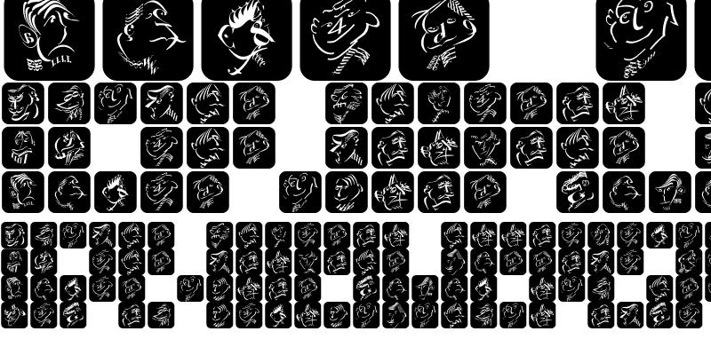 Sample of TypographicHeadPaintings Regular