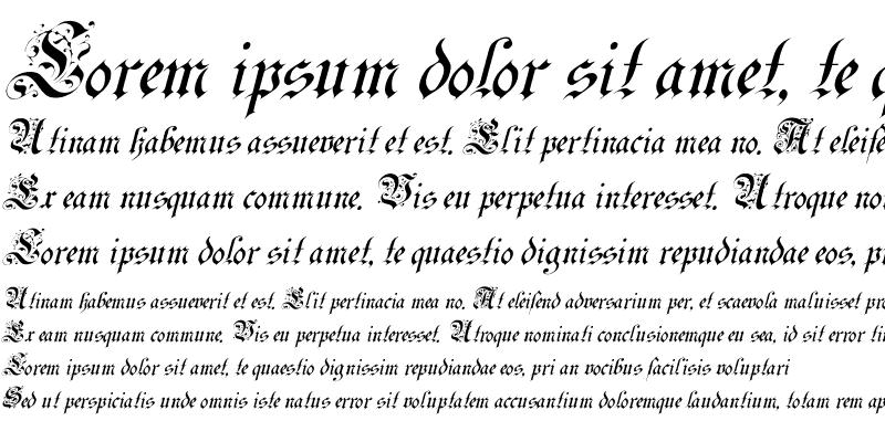 Sample of Uechi Italic
