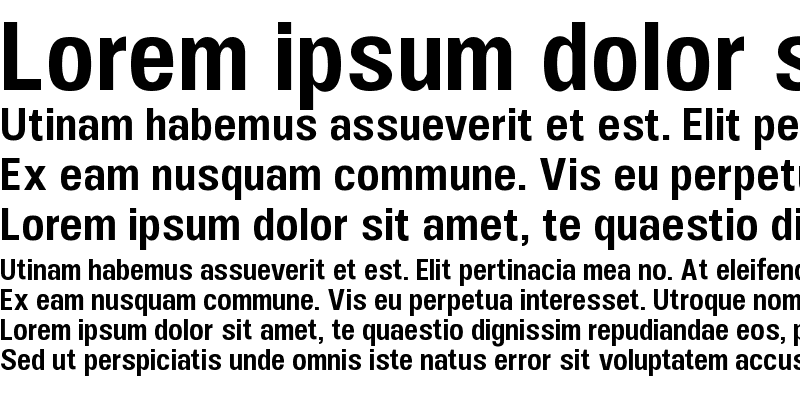Sample of UFont