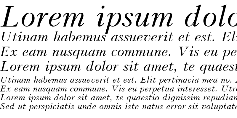 Sample of UkrainianPeterburg Italic