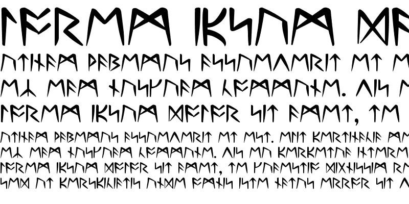 Sample of Ultima Runes -- ALL CAPS