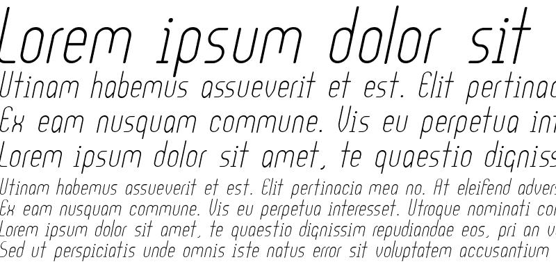 Sample of Ultura MediumItalic