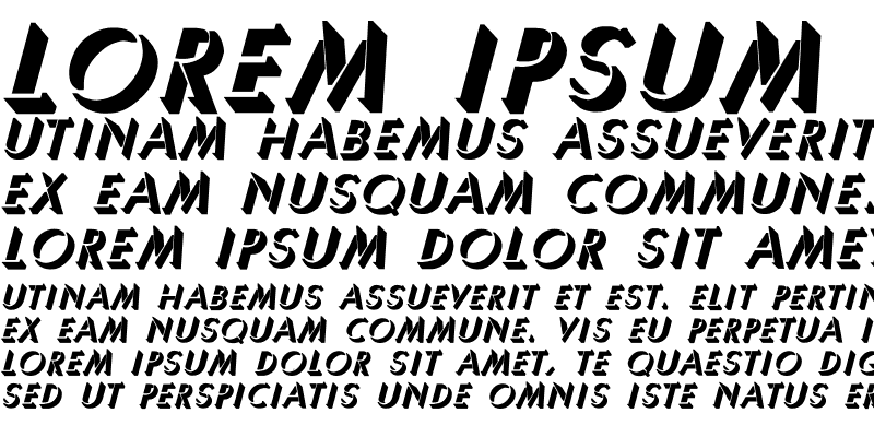 Sample of Umbra-Thin Bold Italic Regular