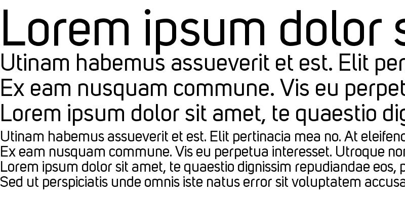 Sample of Uni Sans Regular