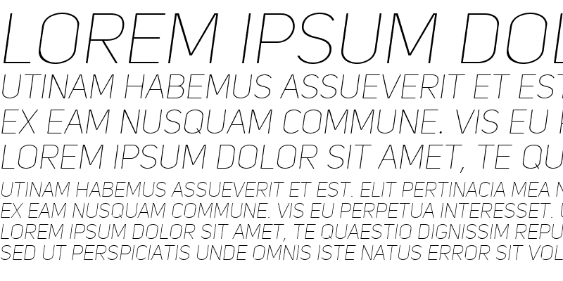 Sample of Uni Sans Thin Caps Italic