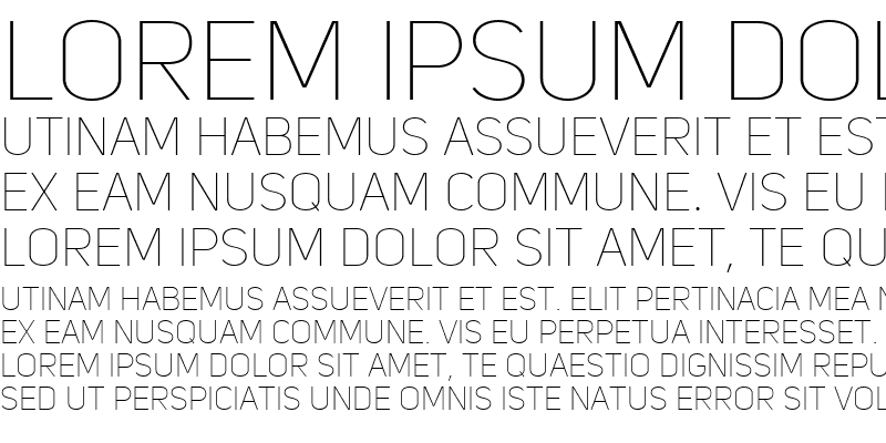 Sample of Uni Sans Thin Caps