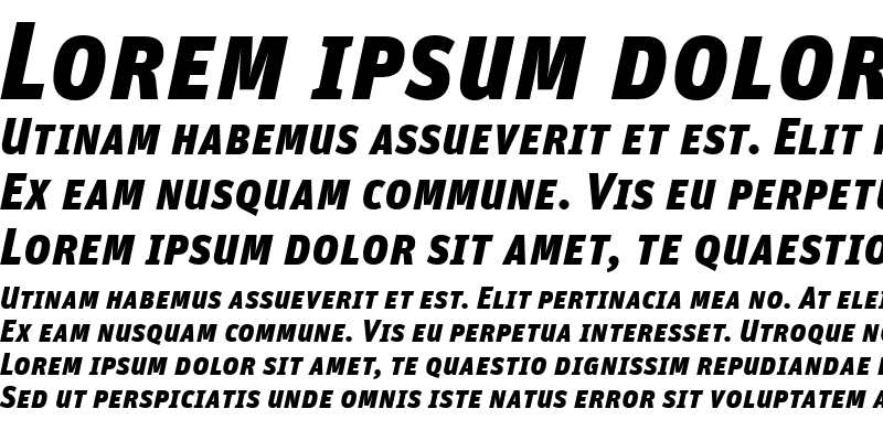 Sample of Unit-BlackSCItalic