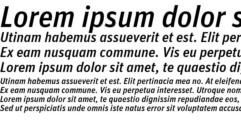 Sample of Unit-MediumAlternateItalic