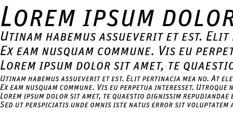 Sample of Unit-RegularSCItalic