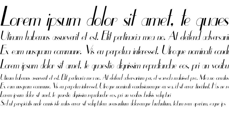 Sample of UppEa Th Italic