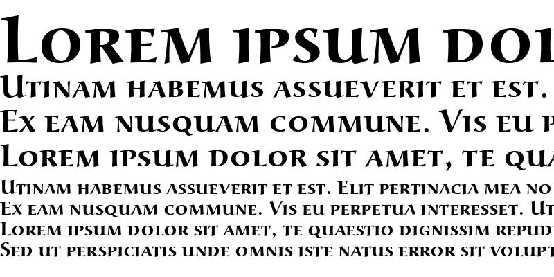 Sample of URWAlcuinSCT Bold