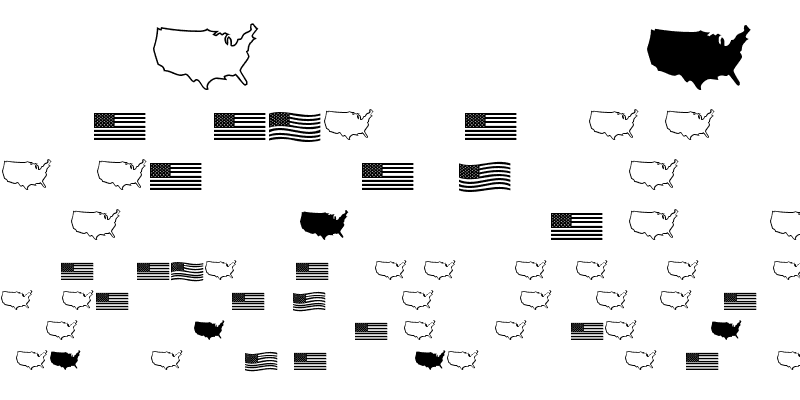 Sample of US Flag