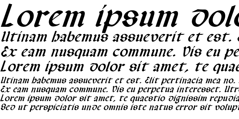 Sample of Valerius Italic