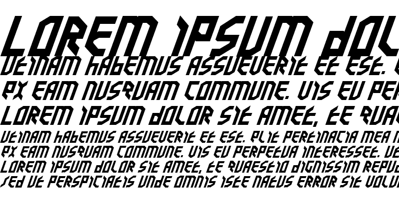 Sample of Valkyrie Expanded Bold Italic