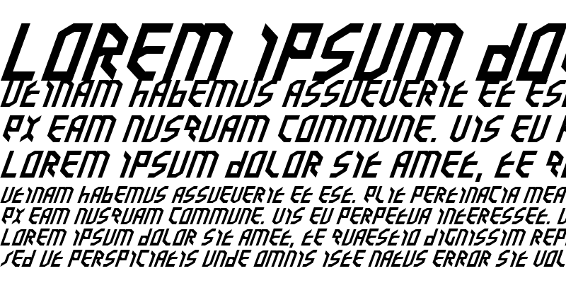 Sample of Valkyrie Expanded Italic