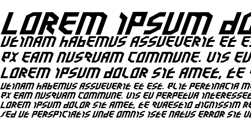 Sample of Valkyrie ExpBold Italic